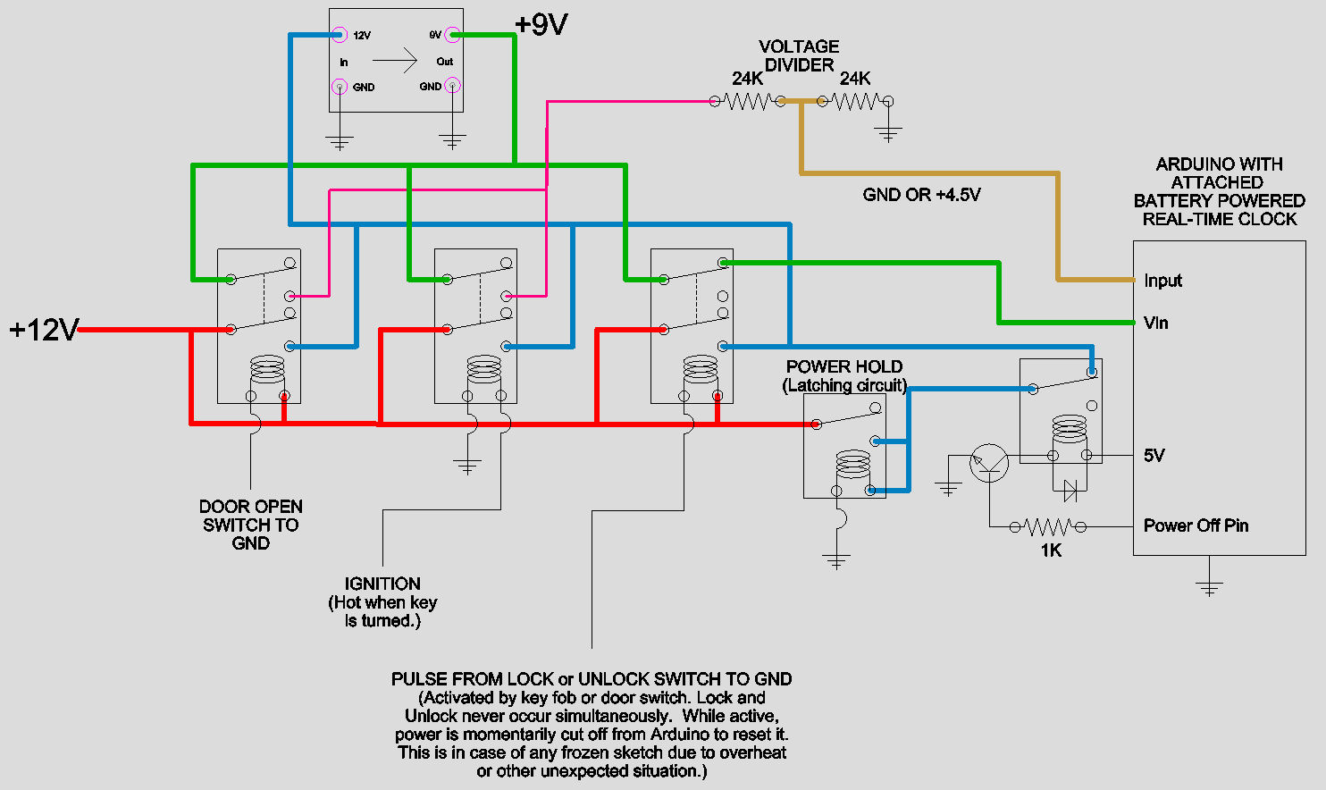 ... Wiring Diagram Latching Relay. I know the car voltage is noisy and  unstable, but to my knowledge a relay